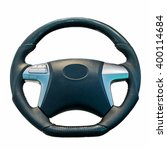 steering wheel isolated on the... | Shutterstock . vector #400114684