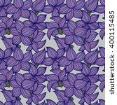 vector hand drawn floral... | Shutterstock .eps vector #400115485