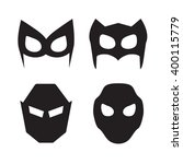 set of vector super hero masks | Shutterstock .eps vector #400115779