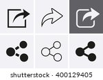 share icons. vector set for web   Shutterstock .eps vector #400129405