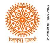 happy ugadi. ugadi festival... | Shutterstock .eps vector #400129831