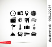 travel icons set | Shutterstock .eps vector #400130299