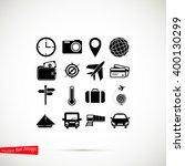 travel icons set | Shutterstock .eps vector #400130299