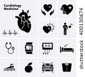 cardiology medicine icons.... | Shutterstock .eps vector #400130674