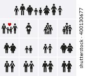 family icons. man  woman  kid ...   Shutterstock .eps vector #400130677