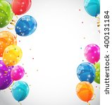 color glossy balloons...   Shutterstock . vector #400131184