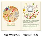 cooking cookbook template hand... | Shutterstock .eps vector #400131805