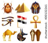 egypt icons detailed photo... | Shutterstock .eps vector #400132261