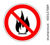 no fire vector sign.... | Shutterstock .eps vector #400137889