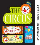 the circus banner set... | Shutterstock . vector #400141165