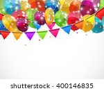 color glossy balloons... | Shutterstock . vector #400146835