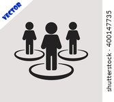 people network icon. | Shutterstock .eps vector #400147735