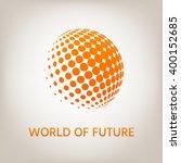 earth logo   halftone sphere. | Shutterstock .eps vector #400152685