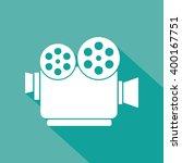 retro cinema icon flat | Shutterstock .eps vector #400167751