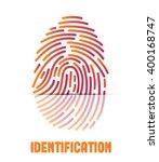 fingerprint icon.... | Shutterstock .eps vector #400168747