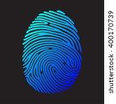 Blue Fingerprint On Black...
