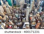 manhattan cityscape with... | Shutterstock . vector #400171231