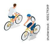 cyclists on bicycle. riding... | Shutterstock .eps vector #400179349