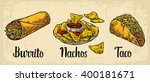 mexican traditional food set... | Shutterstock .eps vector #400181671