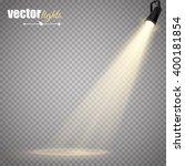 vector spotlight. light effect | Shutterstock .eps vector #400181854