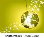 globe christmas ball on a green ...   Shutterstock .eps vector #40018300