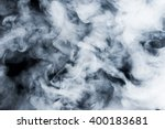 Smoke Clouds On Dark Background
