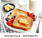 French Toast With Butter And...