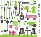 gardening related vector icons 7 | Shutterstock .eps vector #400191934