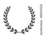 a laurel wreath icon border.... | Shutterstock .eps vector #400193131