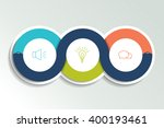 circle first  second and third... | Shutterstock .eps vector #400193461