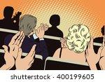 people in retro style pop art... | Shutterstock .eps vector #400199605