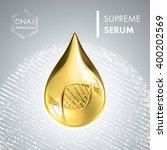 supreme collagen oil drop... | Shutterstock .eps vector #400202569