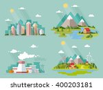 set of icons of nature for your ... | Shutterstock .eps vector #400203181