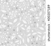 floral seamless pattern.... | Shutterstock .eps vector #400207189