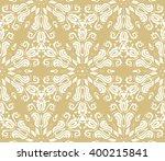 oriental vector classic yellow... | Shutterstock .eps vector #400215841