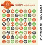 medical and healthy care icons...