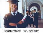 happy graduate. happy african... | Shutterstock . vector #400221589