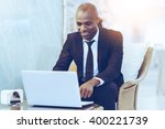 working with pleasure. cheerful ... | Shutterstock . vector #400221739