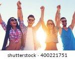 enjoying carefree time together.... | Shutterstock . vector #400221751