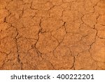 Cracked Red Clay Soil