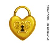 Icon Of Heart Shaped Golden...