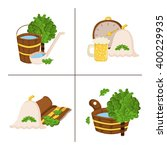Vector Sauna Concept In Cartoo...