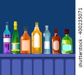 bar counter with alcohol drink  ... | Shutterstock .eps vector #400235071