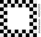 Checkered Frame  Border. Empty...