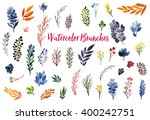 collection of hand drawn... | Shutterstock . vector #400242751