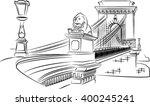 szechenyi chain bridge | Shutterstock .eps vector #400245241