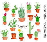 illustration of houseplants  | Shutterstock . vector #400245391