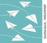 paper planes background | Shutterstock .eps vector #400249489