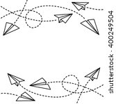 paper planes background | Shutterstock .eps vector #400249504