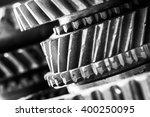 gears  grunge cogwheels  real... | Shutterstock . vector #400250095